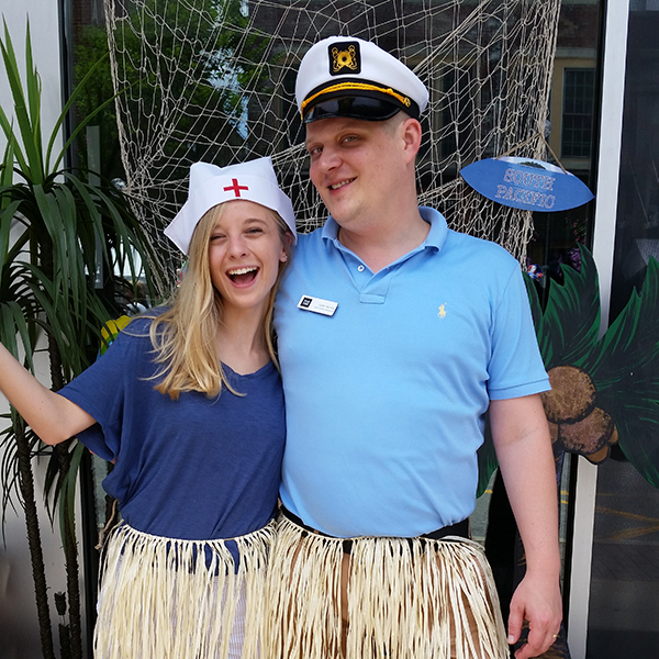 Alyx Bean and Justin Nichols at our pop-up photo booth for SOUTH PACIFIC on Fun Fourth.